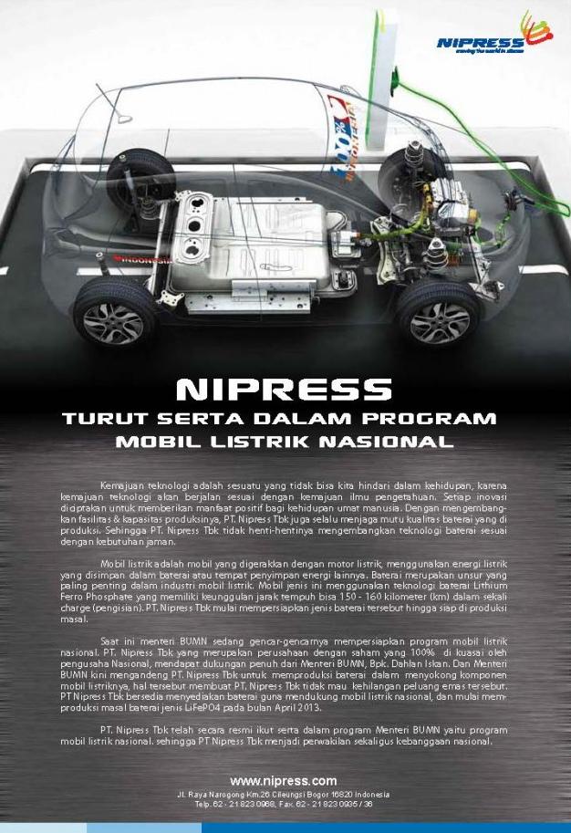 Dahlan Iskan - Nipress - Mobil Listrik Nasional